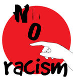 No Racism Concept Design Stock Image