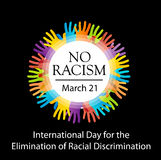 No racism graphic with hands Stock Images