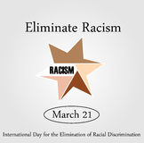 No Racism- Graphic showing unity- International day for the elimination of Racism Royalty Free Stock Photo
