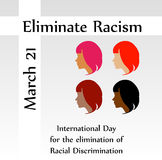 No Racism- Graphic showing unity- International day for the elimination of Racism Stock Images