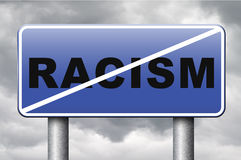 No racism. Stop discrimination equal opprtunities for everybody sexual and racial equality human rights Royalty Free Stock Images