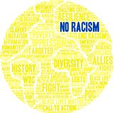 No Racism Word Cloud. On a white background Stock Image