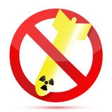 No radioactive bombs Royalty Free Stock Photo