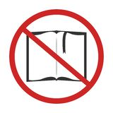 No read a book royalty free illustration