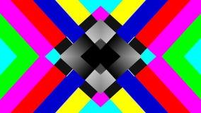 No Reception Multicolor TV Background Retro Concept. No Signal TV multicolored animated lines in retro television style - 4K high definition video stock footage