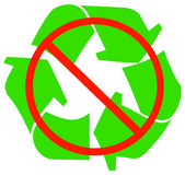 No recycling. Available or allowed - vector Royalty Free Stock Images