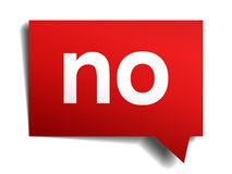 no red 3d realistic paper speech bubble Royalty Free Stock Photography