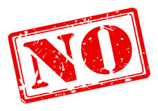 NO red stamp text royalty free illustration