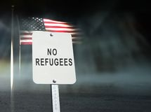 No refugees concept stock image