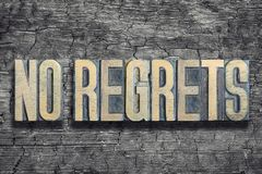 No regrets burned wood Royalty Free Stock Photography