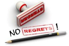 No regrets! Corrected seal impression Royalty Free Stock Photo