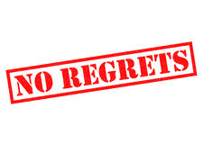 NO REGRETS Rubber Stamp Royalty Free Stock Images