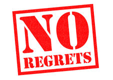 NO REGRETS Rubber Stamp Royalty Free Stock Photos