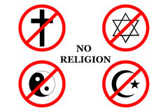 No religion,letters Royalty Free Stock Photography