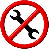 No repair sign Royalty Free Stock Images