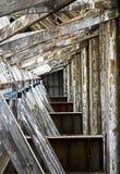 No Resbalón cubierto 3 en el astillero histórico Chatham Foto de archivo