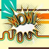 NO! NO! - retro literowanie z cieniami, halftone wzór na retro plakatowym tle Obrazy Royalty Free