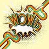 NO! NO! - retro literowanie z cieniami, halftone wzór na retro plakatowym tle Obraz Stock