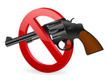 No revolver sign Royalty Free Stock Image