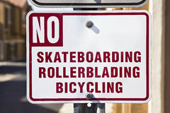 No Riding Royalty Free Stock Images