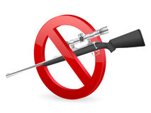 No rifle sign Royalty Free Stock Photo