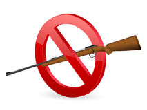 No rifle sign Royalty Free Stock Photography