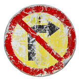 No right turn Stock Images