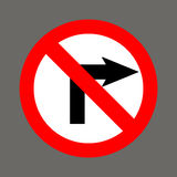 No right turn. Road signs in the United States Stock Photos