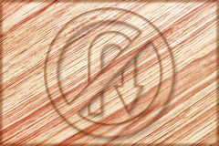 No right u turn sign on wooden board. It is no right u turn sign on wooden board Royalty Free Stock Photo