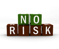 No risk cube Royalty Free Stock Photography