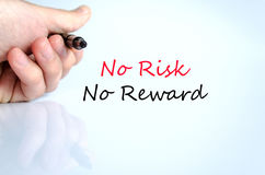 No risk no reward text concept. Isolated over white background Royalty Free Stock Photography