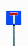 No Through Road. A metal road sign displaying a No Through Road symbol royalty free stock images