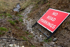 No Road Markings Royalty Free Stock Photo