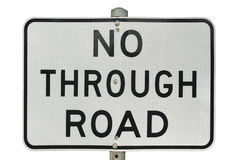 No through road sign Stock Images