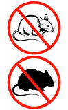 No rodents vector sign Royalty Free Stock Image
