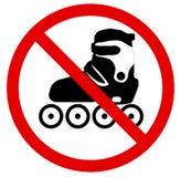 No roller skate. Vector illustration Royalty Free Stock Image