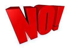 No in rosso ed in 3-D Fotografia Stock Libera da Diritti