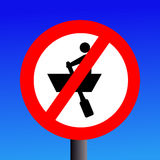 No rowing boats sign Royalty Free Stock Image