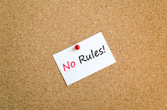 No rules text concept Royalty Free Stock Image