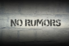 No rumors GR Stock Photo