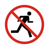 No run sign,. Illustration Stock Photo