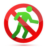 No running sign Stock Image