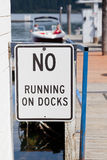 No Running Sign Royalty Free Stock Photography