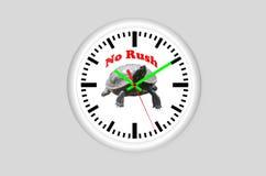 No Rush, turtles clock Stock Photography