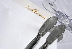 noża rybi menu Obrazy Stock