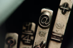 No símbolo @ Imagem de Stock