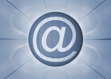 No símbolo do email @ ilustração do vetor