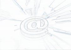 No símbolo do email ilustração royalty free