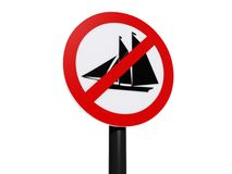 No sailing sign Royalty Free Stock Photography