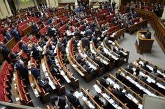 No salão da sessão do Verkhovna Rada de Ucrânia fotografia de stock
